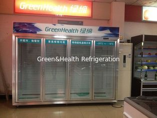 China R404a Sliding Glass Door Freezer 1200L With Dynamic Cooling supplier