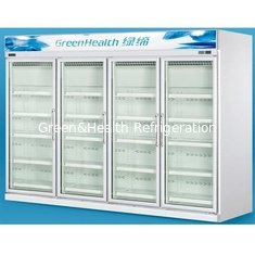 China Grocery 0 - 10°C Glass Door Freezers Frost Free With Copeland Compressor supplier