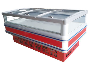 Static Cooling Horizontal Supermarket Island Freezer With Exquisite Design