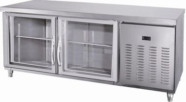 China Large Under Counter Freezer With Front Glass Door / Smaller Fender supplier