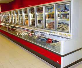 China Combination Freezer With Glass Door , 1600w Commercial Display Energy Efficiency Cooler supplier