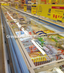 China Self - Contain Cooling Commercial Display Freezer Open Top 90mm thick For Store supplier