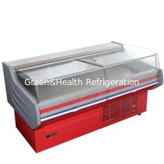 China Store Frost Free Meat Display Refrigerator Counter CE ROHS With Curved Glass supplier