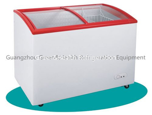 China White / Silver Low Energy Chest Deep Freezer Defrost LED Display supplier