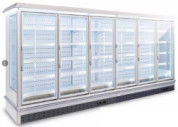 China CE ROSH  Multideck Open Display Showcase Freezer Build In Remote System supplier