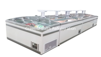 China 2.5m Gray Color Commercial Display Freezer With Temperature Glass 1040L Capacity supplier