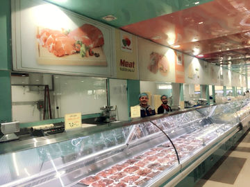China Deli Serve Over Counter Meat Display Refrigerator / Butchery Shop Equipment supplier