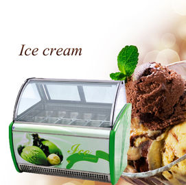 China -18~-22 Degree 12 Trays Ice Cream Display Freezer Danfoss / Tecumseh Compressor supplier