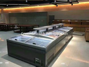 China Glass Door Auto Defrostr Supermarket Island Freezer Flexiable Display Type supplier