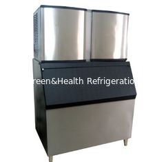 China 1 Ton / 24h Air Cooling Ice Cube Making Machine For Milk Tea Shop supplier