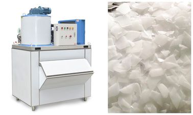 China 500 Kgs Fan Cooling Seafood Dry Flake Ice Maker Machine With Hanbell Compressor supplier