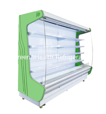 China Universal Wheel Multi - Deck Front Open Refrigerator PVC Coated Adjustable Shelves supplier