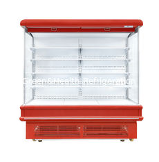 China Painted Steel And PVC Material Multideck Open Chiller For Fruit And Vegetable supplier