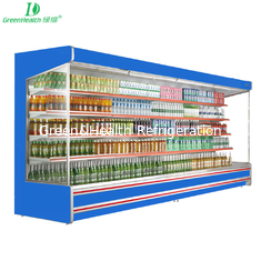 China Night Curtain Multideck Open Chiller Supermarket Showcase For Drink And Yogurt supplier