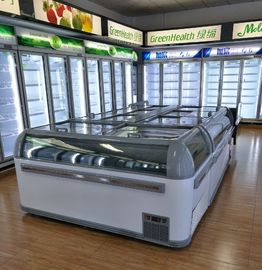 China Commercial Plug In Combine Island Display Freezer Showcase For Ice Cream , Meat supplier