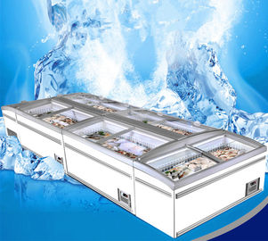 China 8 Ft Large Supermarket Freezer Sliding Glass Door Freezer For Chicken Storage supplier