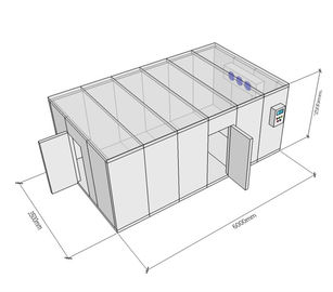China R404a Refrigerant Shop Cold Storage Freezer For Seafood 1 Year Warranty supplier