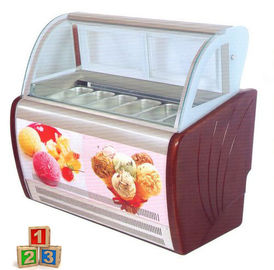 China Dynamic Cooling Ice Cream Display Showcase  R404a Refrigerant Digital  Thermostat supplier