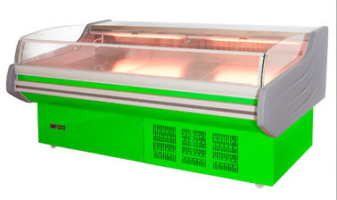 China Remote commercial Open Front Meat showcase Butcher refrigeration Equipment seafood display counter supplier