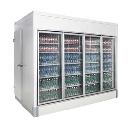 Energy Saving Conservation Supermarket Cold Room For Fish Meat & Vegetable
