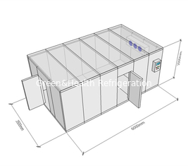 China Modular Modular Cold Rooms Compressor Refrigeratied Big Capacity Cold Storage Warehouse supplier