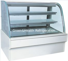China Big Capacity Cake Display Freezer Toughened Glass Wooden Frame 920W supplier