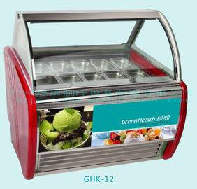 China Automatic Defrost Popsicles Ice Cream Display Freezer With 12 Pcs 1 / 3 Pan supplier