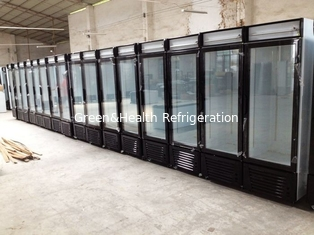 Display Freezer Fan Cooling Automatic Defrost With Sliding Doors