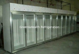 Glass Sliding Door Commercial Beer Coolers 0 - 10 Degree Fan Cooling For Shop