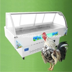 China Curved Glass Dishes Showcase Deli Display Refrigerator With Digital Elitech Thermostat supplier