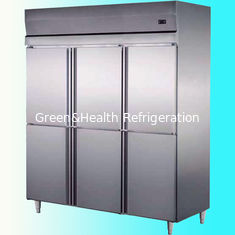 China Commercial Stainless Steel Upright Freezers 6 Doors For Restaurant  Factory supplier