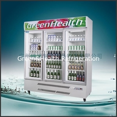 China Stainless Steel Upright Commercial Display Freezer Tecumseh Compressor -25°C  3 Doors supplier