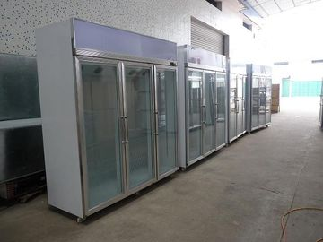 China Stainless Steel Upright Commercial Display Freezer -25°C With Vertical Light supplier