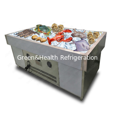Supermarket Commercial Meat Seafood Fish Display Cooler Table