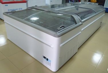 Commercial Island Freezer -20°C - 18°C , Supermarket Island Freezer With Sliding Glass Door