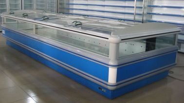 Auto Defrost Double Supermarket Island Freezer digital Elitech With Glass Covers