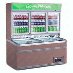 Painting Steel Commercial Display Freezer With Glass Door