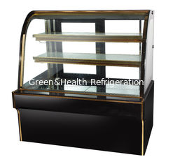 China 2 Layer Black Cake Display Cases Freezer 2m 110v  60hz supplier