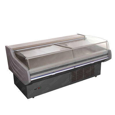 Supermarket Refrigerated Meat Fresh Fish Seafood Deli Display Case For Restaurant