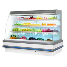 Supermarket Energy Saving Curtain Fruit Vegetable Open Multi-deck Display Chiller