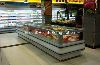 China White Single Site Supermarket  Ice Cream Display Freezer With Sliding Door supplier