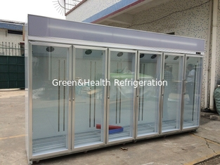 China Free Standing Glass Door Refrigerator Showcase Cold Storage Chamber supplier