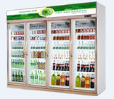 China Upright Glass Door Commercial Beverage Cooler With Danfoss / Drinks Display Chiller factory
