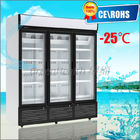 China Glass Door Chiller R404a , 3 Glass Door Freezer Automatic Defrost factory