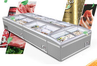 China Large High Vision Seafood Display Freezer With Digital Controller factory