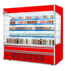 Customized Color Fruit Display Milk Dairy Showcase Supermarket Refrigeration Equipment