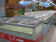 China Big Shopping Mall Supermarket Island Freezer Remote Cooling System Combine Type factory