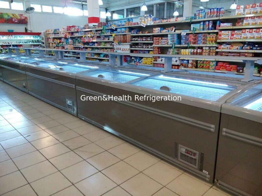 8 Ft Large Supermarket Freezer Sliding Glass Door Freezer For