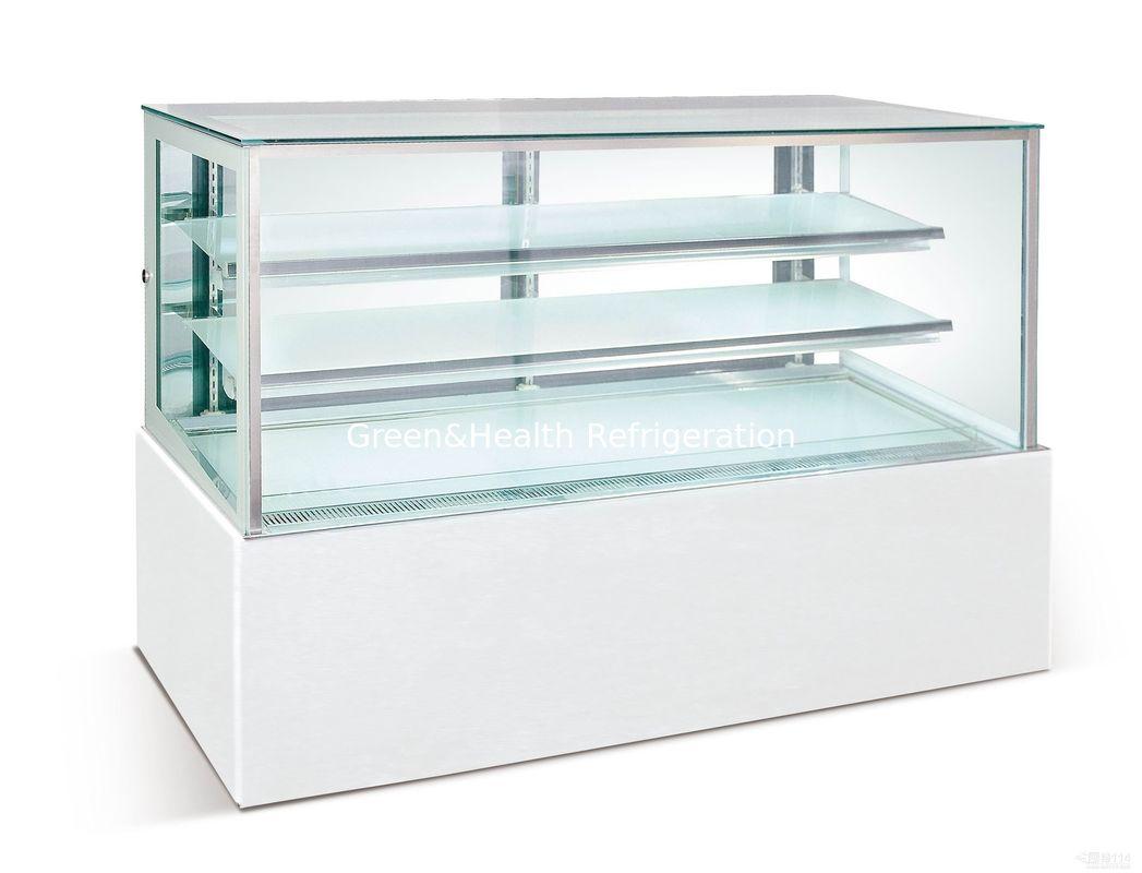 Dessert Double Glass Door Fridge 1.2 meter , 540W Cake Display ...