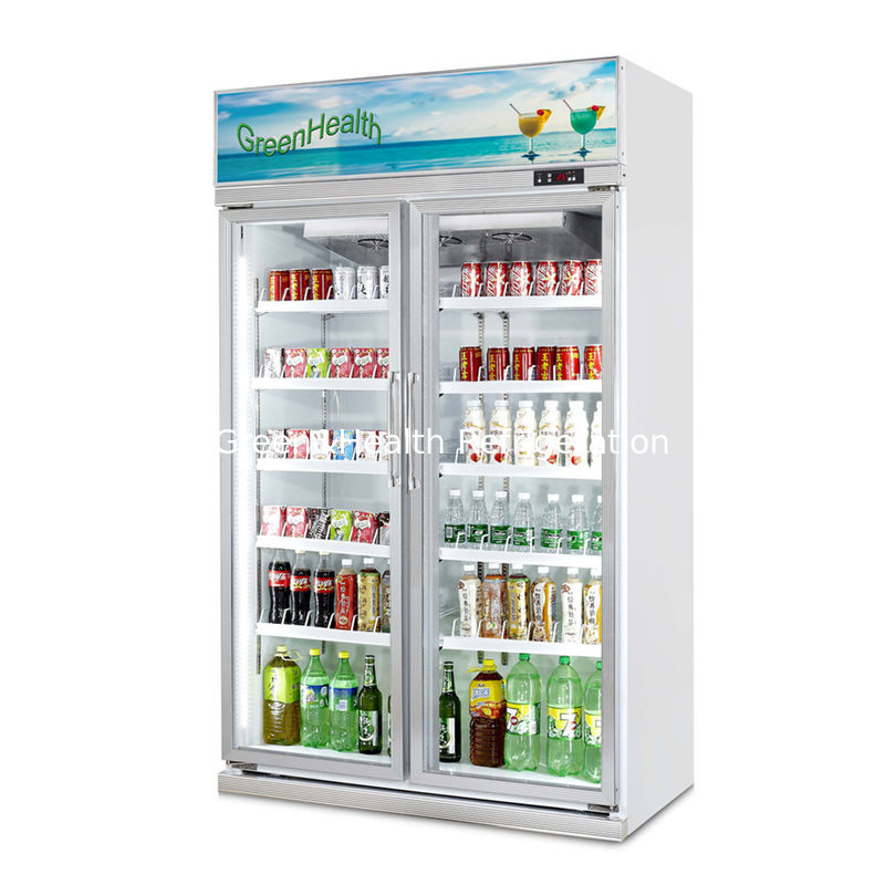 Adjustable Shelves Glass Door Freezer Beverage Display